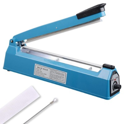"Yescom 12"" 300mm Impulse Manual Hand Sealer Heat Sealing Machine Poly Tubing Plastic Bag"