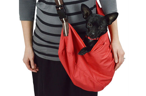 Wewalab Red Pet Sling Carrier With Shoulder Pad for Small To Medium Dog