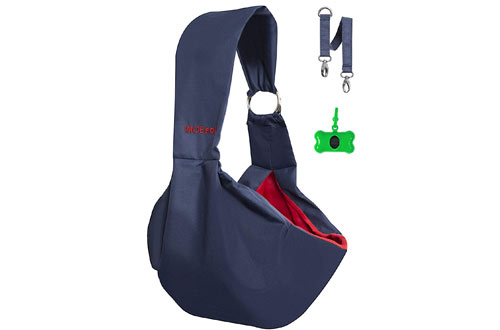 IMOEsol Pet Sling Carrier – Reversible Bag with Adjustable Strap and Zipped Pocket