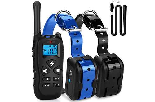 Mothca Dog Training Collar 2 Dogs With Remote