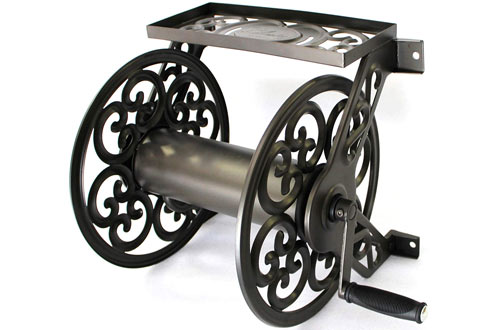 Steel Decorative Wall Mount Garden Hose Reel