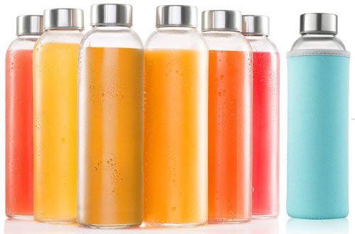 glass bottles 6 Pack 18oz - Includes 6 Sleeves