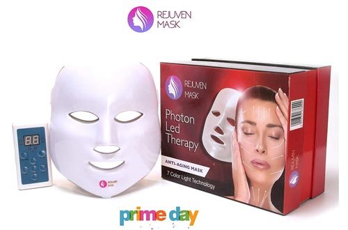 Rejuven Mask Photon LED Therapy Mask Includes FREE bottle of Argan Oil for Anti-aging, Brightening, Improve Wrinkles.