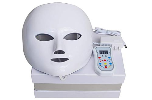 NEWKEY Advanced 7 Color LED Light Photon Therapy System Facial Skin Care & Mask
