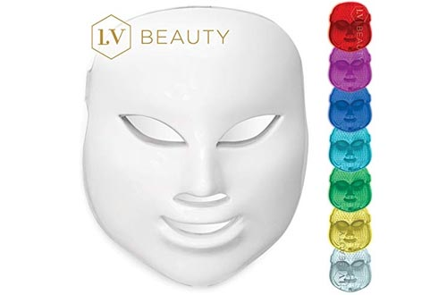 NEW LV Beauty [2018 Model] 7 Color LED Light Mask