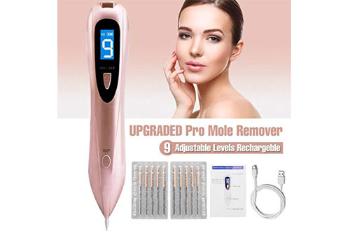 Professional Mole Removal Pen Portable USB Rechargeable Mole Remover Tool Kit