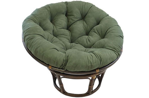 Furniture Piece Rattan 42-inch Papasan Chair with Micro Suede Cushion