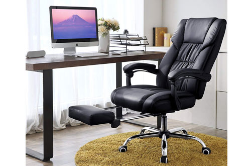 SONGMICS Office Chair High Back Executive Swivel Chair with Large Seat