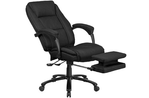 Flash Furniture High Back Black Fabric Executive Reclining Swivel Office Chair