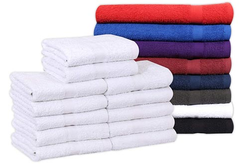 Cotton Salon Towels (12-Pack, White,16x27 inches)