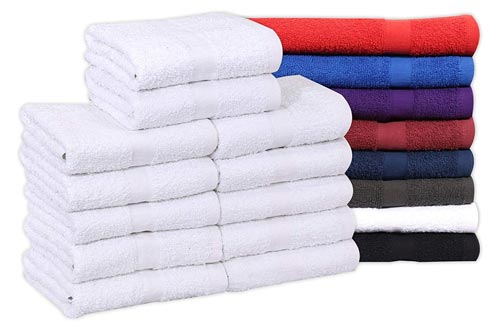 Cotton Salon Towels (24-Pack, White,16x27 inches)