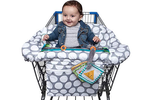 Boppy Luxe Jumbo Dots Shopping Cart and High Chair Cover