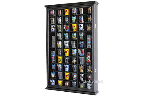 56 Shot Glass Shooter Display Case Holder Cabinet