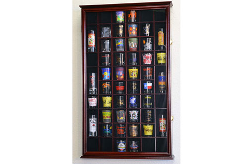 54 Shot Glass Shooter Display Case Holder Cabinet