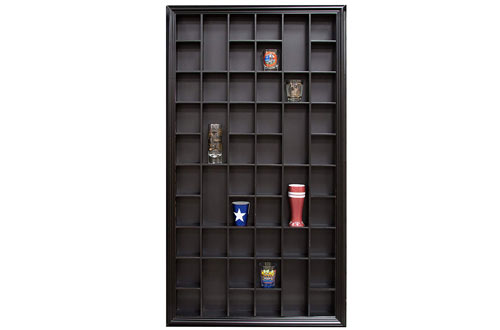 Gallery Solutions 17x32 Shot Glass Display Case