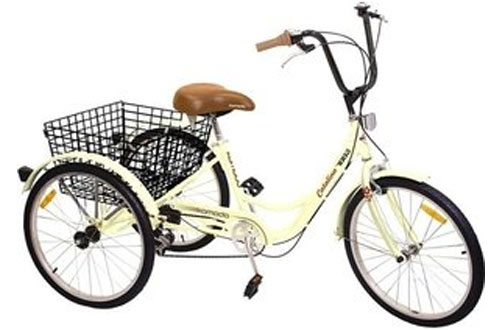 "Komodo Cycling 24"", 6-speed Adult Tricycle"