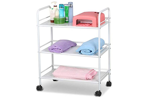 Topeakmart 3 Shelf Large Salon Beauty Trolley Cart