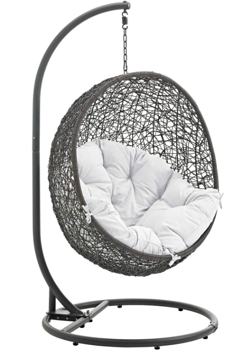 Modway Hide Outdoor Patio Swing Chair with Stand