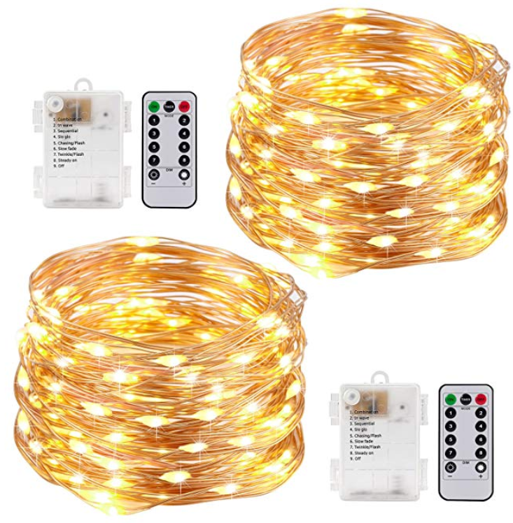 Kohree String Lights LED Copper Wire Fairy Christmas Light with Remote Control