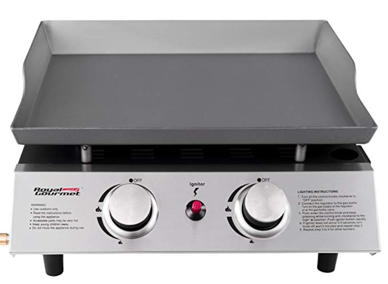 Royal Gourmet Portable 2 Burner Propane Gas Grill Griddle