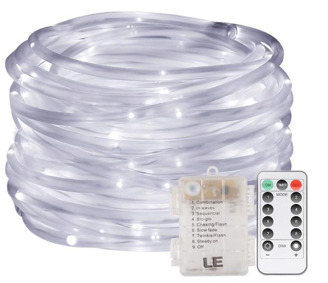 LE 33ft 120 LED Dimmable Rope Lights