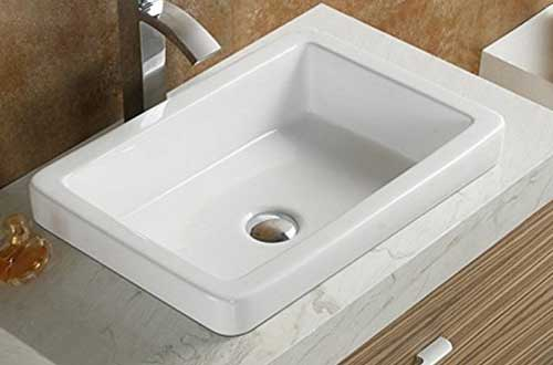 Elimax's Bathroom SR-7444 Ceramic Porcelain Vessel Sink