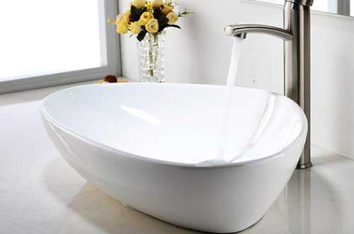 Comllen Contemporary Ceramic Bathroom Vessel Sink