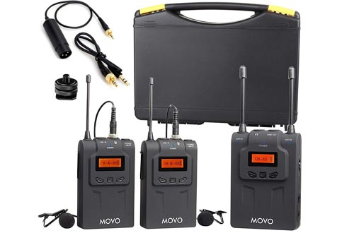 Movo WMIC80 UHF Wireless Lavalier Microphone System