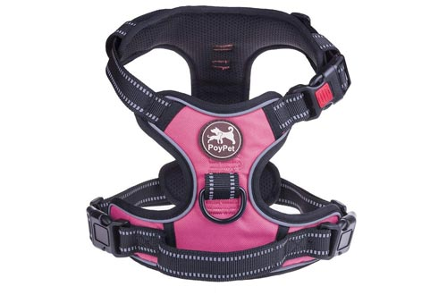 PoyPet No Pull Dog Harness Front 3M Reflective Pet Vest