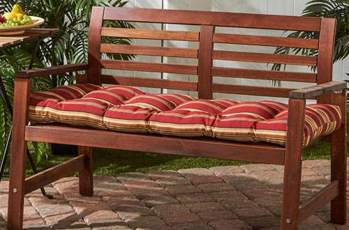 Greendale Home Fashions Indoor/Outdoor Bench Cushion, Roma Stripe