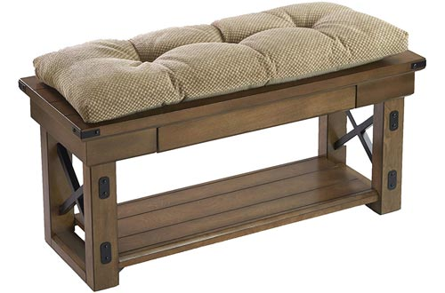 The Gripper Non-Slip Rembrandt Tufted Universal Bench Cushion