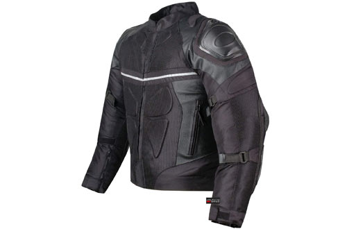 PRO LEATHER & MESH MOTORCYCLE WATERPROOF JACKET