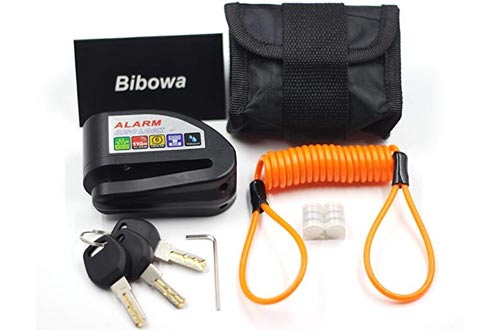 Bibowa Disc Brake Lock With Alarm - Anti -Theft Disc Lock Motorcycle Alarm