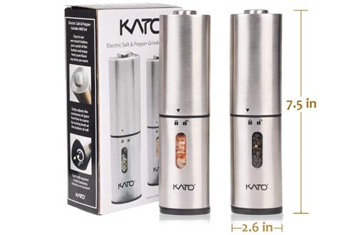 Kato Electric Salt and Pepper Grinders Set