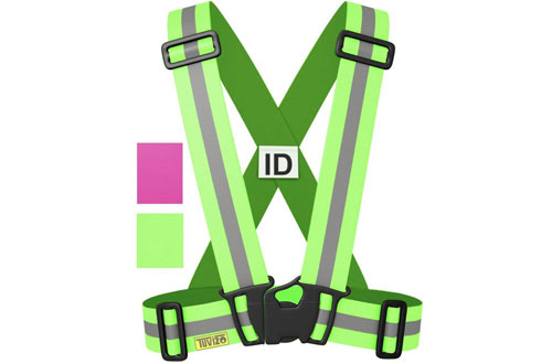 Tuvizo Reflective Vest for High Visibility All Day and Night with Emergency Identification Label