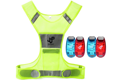 JQP Sports Running Vest and 4 LED Safety Light Sets