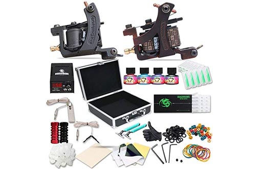 Dragonhawk Complete Tattoo Kit Copper Coils 2 Tattoo Machines