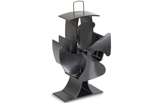 VonHaus 4-Blade Heat Powered Wood Stove Fan