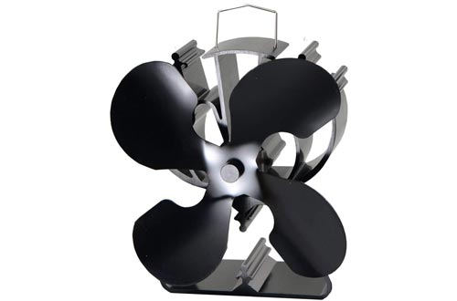 4-Blade Heat Powered Stove Fan for Wood