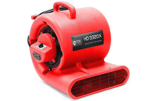 CFM Pro Air Mover Carpet Floor Dryer 3 Speed 1/3 HP Blower Fan