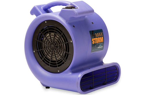 Durable Lightweight Air Mover Carpet Dryer Blower Floor Fan for Pro Janitorial, Purple