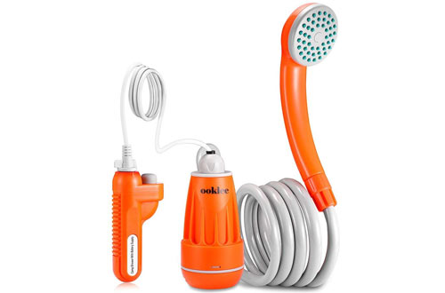 OOKLEE Portable Outdoor Camping Shower with Rechargeable Water Pump