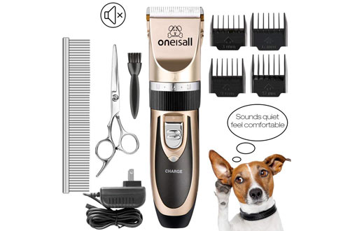 oneisall Rechargeable Cordless Electric Pet Grooming Clipper