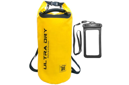 Ultra Dry Premium Waterproof Bag, Sack with phone dry bag and Long Adjustable Shoulder Strap