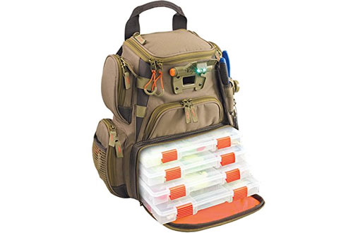 Wild River by CLC WT3503 Tackle Tek Recon Lighted Compact Tackle Backpack