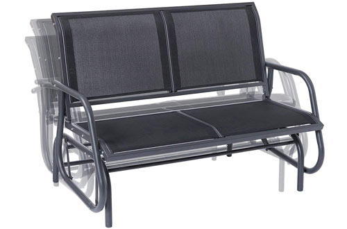 SUPERJARE Outdoor Swing Glider Chair, Patio Bench for 2 Person