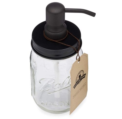 1. Jarmazing Products Mason Jar Soap Dispenser - Black - with 16 Ounce Ball Mason Jar