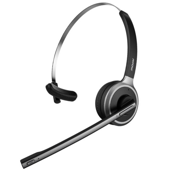 1. Mpow V4.1 Bluetooth Headset,Truck Driver Headset, Wireless Over Head Earpiece with Noise Reduction Mic for Phones,