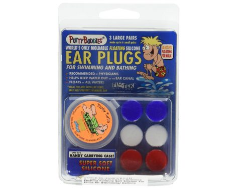 1. PUTTY BUDDIES Floating Earplugs 3-Pair Pack – Soft Silicone Ear Plugs for Swimming & Bathing – Invented by Physician – Keep Water Out