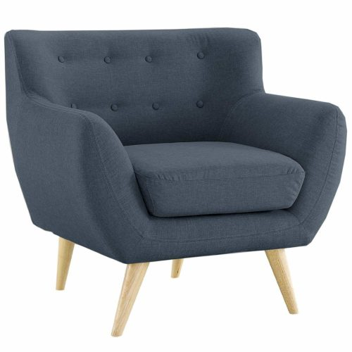 20. Mid Century Modern Style Sofa, Love Seat Red, Grey, Yellow, Blue - 1 Seat, 2 Seat, 3 Seat (Grey Blue, 1 Seater)- Best Reading Chairs